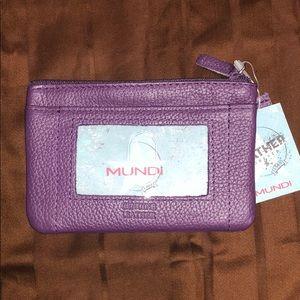 NWT Mundi Zip ID wallet with ID card holder